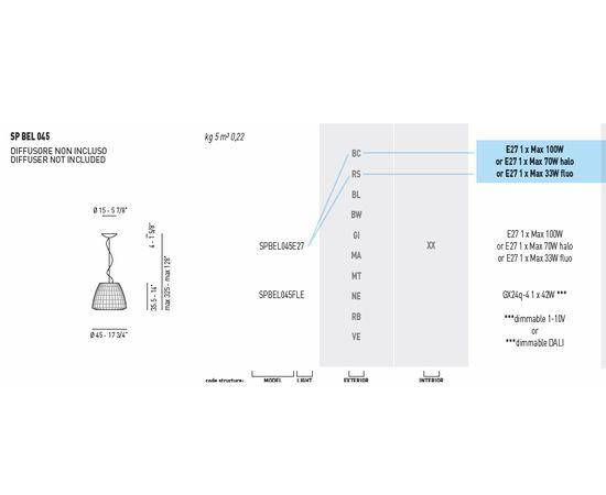 Подвесной светильник Axo Light (Lightecture) Bell SPBEL045E27, фото 5