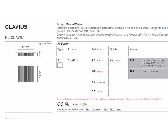 Потолочный светильник Axo Light Clavius PLCLAVIU, фото 3