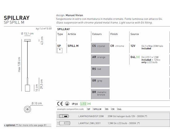 Подвесной светильник Axo Light Spillray SP SPILL M, фото 4