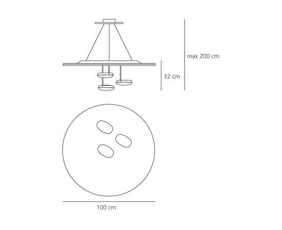 Подвесной светильник Artemide Droplet Sospensione, фото 2