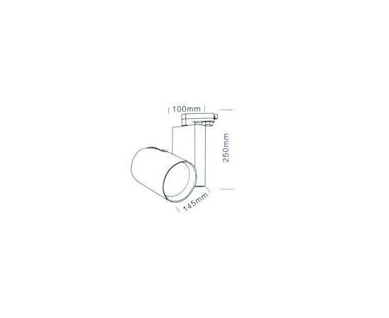Трековый светодиодный светильник Luxeon CASTOR LED, фото 1