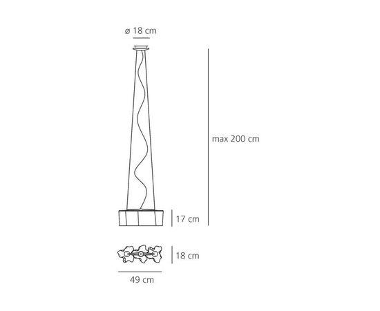 Подвесной светильник Artemide Logico sospensione 3 in linea, фото 2
