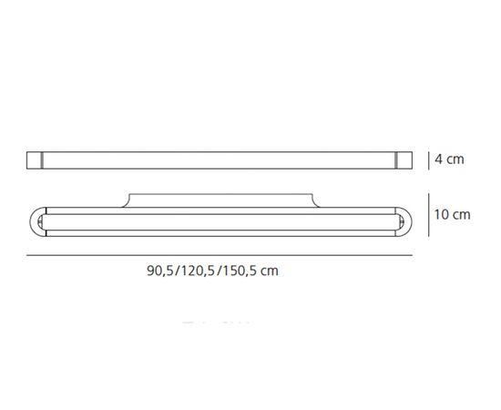 Настенный светильник Artemide Talo parete 90 Led, фото 2
