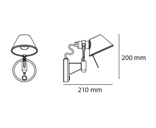 Настенный светильник Artemide Tolomeo micro faretto - without switch, фото 2