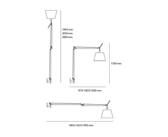 Настенный светильник Artemide Tolomeo Wall Mega, фото 2
