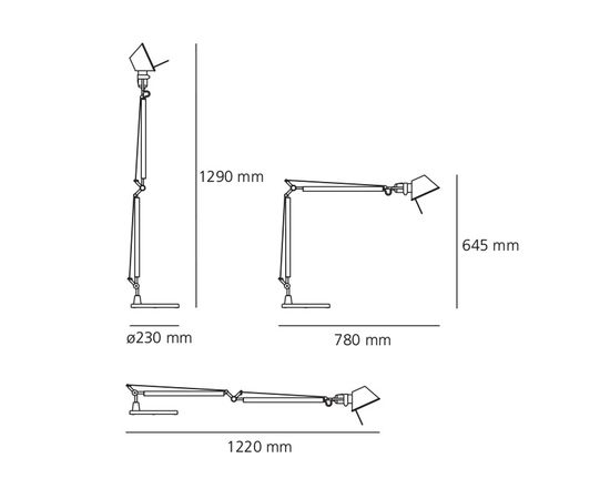 Настольная лампа Artemide Tolomeo Table, фото 3
