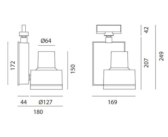 Трековый светильник Artemide Architectural Picto 125 HIT, фото 5