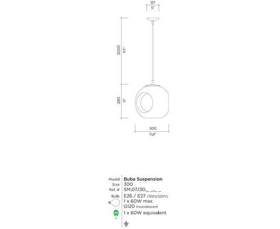 Подвесной светильник Viso Buba Suspension, фото 9