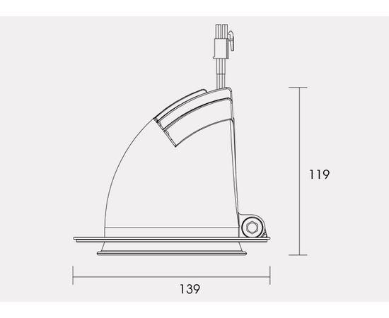 Встраиваемый светодиодный светильник SUNFLEX 22W MK MODULAR SPOTLIGHT, фото 4