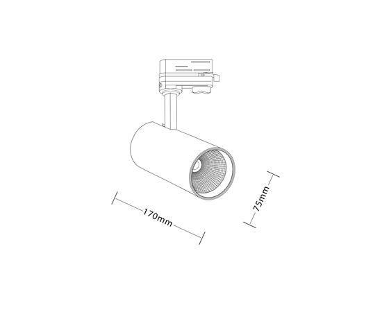 Трековый светодиодный светильник Luxeon MEISSA LED 20W, фото 2