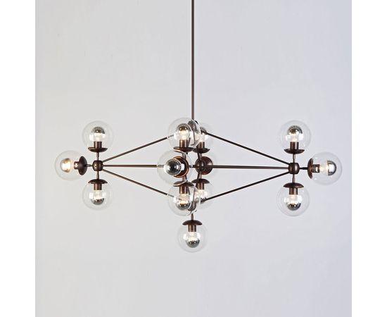 Подвесной светильник Roll & Hill Modo Chandelier - Diamond, 13 Globes, фото 1