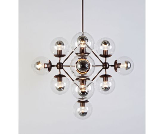 Подвесной светильник Roll & Hill Modo Chandelier - Diamond, 13 Globes, фото 2