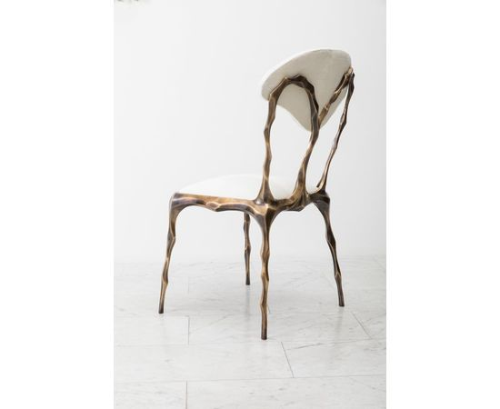 Стул Markus Haase Faceted Bronze Patina Dining Chair, фото 6