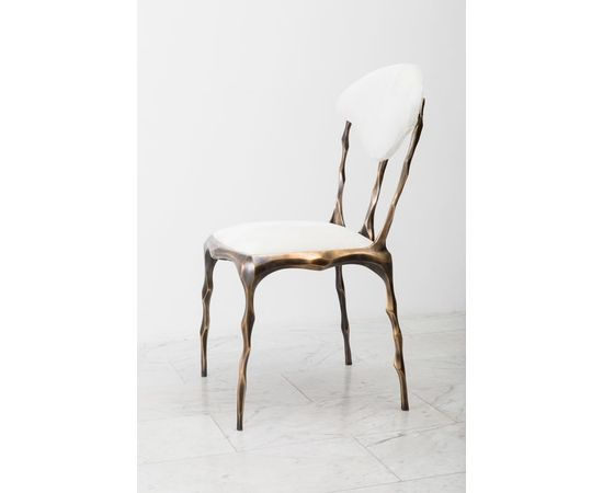 Стул Markus Haase Faceted Bronze Patina Dining Chair, фото 5