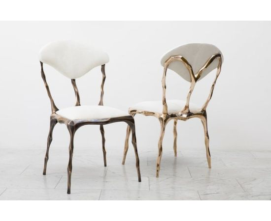 Стул Markus Haase Faceted Bronze Patina Dining Chair, фото 4