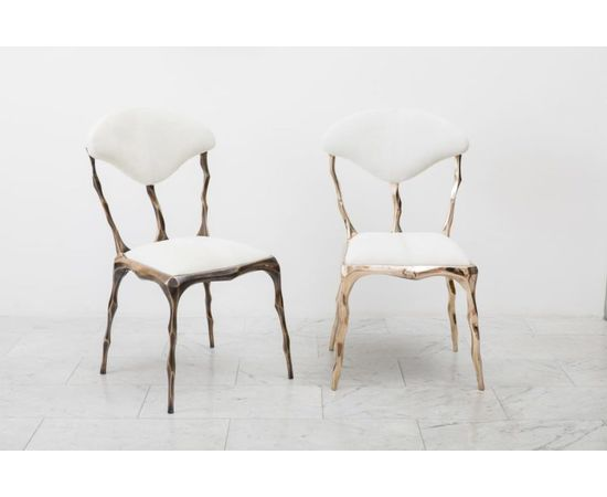 Стул Markus Haase Faceted Bronze Patina Dining Chair, фото 3