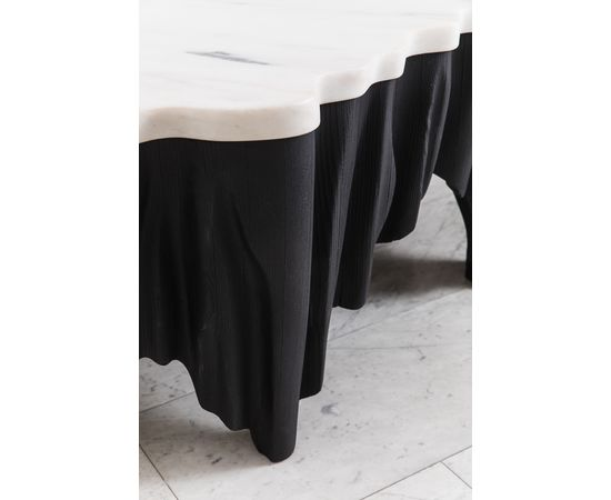 Журнальный столик Markus Haase Ash and Marble Aeolian Table, фото 5