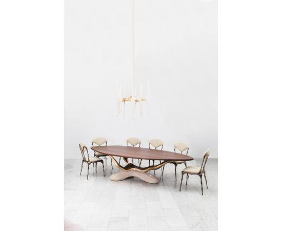 Обеденный стол Markus Haase Bronze, Walnut, and Limestone Dining Table, фото 11