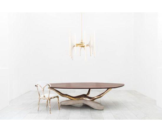 Обеденный стол Markus Haase Bronze, Walnut, and Limestone Dining Table, фото 9