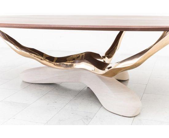 Обеденный стол Markus Haase Bronze, Walnut, and Limestone Dining Table, фото 2