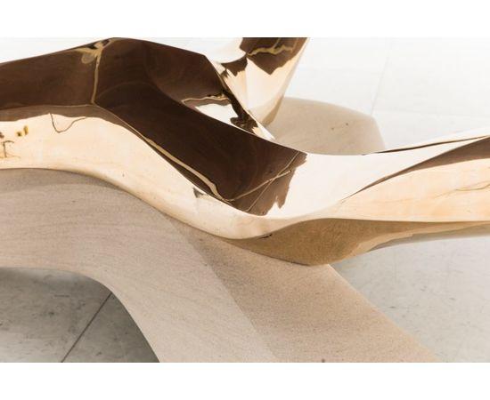 Обеденный стол Markus Haase Bronze, Walnut, and Limestone Dining Table, фото 3