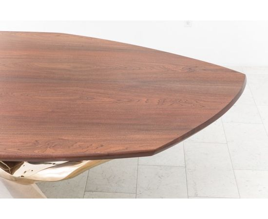 Обеденный стол Markus Haase Bronze, Walnut, and Limestone Dining Table, фото 4