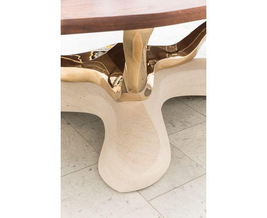 Обеденный стол Markus Haase Bronze, Walnut, and Limestone Dining Table, фото 6