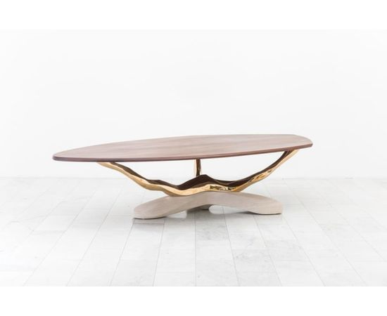 Обеденный стол Markus Haase Bronze, Walnut, and Limestone Dining Table, фото 7