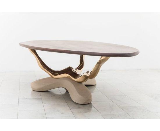 Обеденный стол Markus Haase Bronze, Walnut, and Limestone Dining Table, фото 8