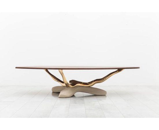 Обеденный стол Markus Haase Bronze, Walnut, and Limestone Dining Table, фото 10