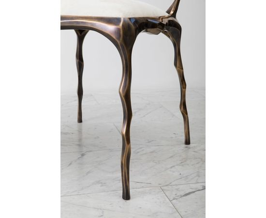 Стул Markus Haase Faceted Bronze Patina Dining Chair, фото 2