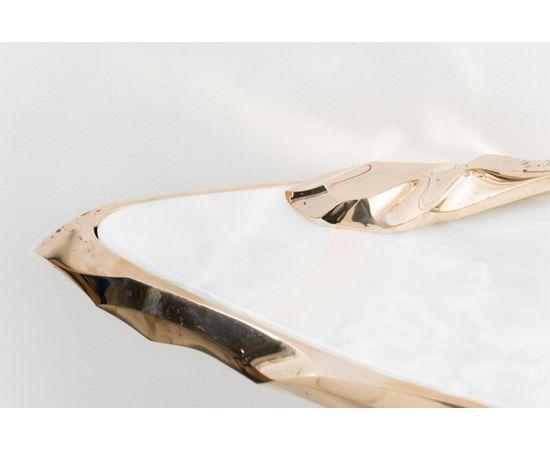 Консоль с зеркалом Markus Haase Bronze and Marble Console with Bronze Mirror, фото 8
