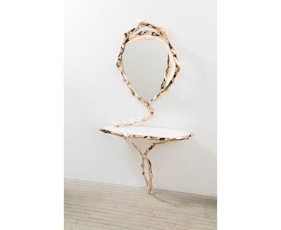 Консоль с зеркалом Markus Haase Bronze and Marble Console with Bronze Mirror, фото 5