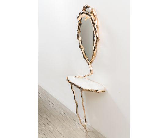 Консоль с зеркалом Markus Haase Bronze and Marble Console with Bronze Mirror, фото 4