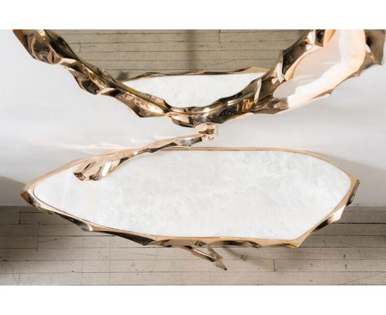 Консоль с зеркалом Markus Haase Bronze and Marble Console with Bronze Mirror, фото 2