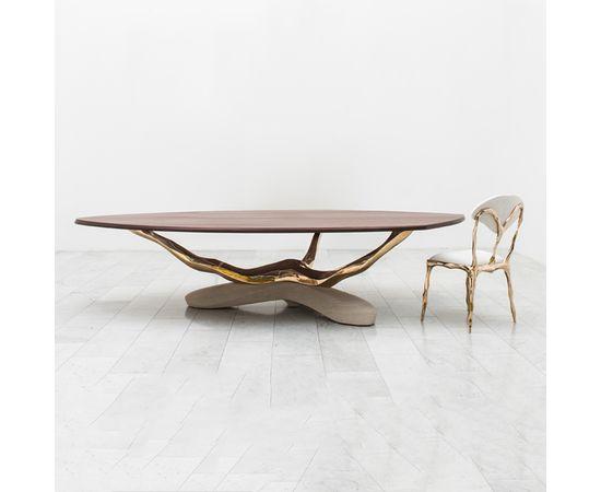 Обеденный стол Markus Haase Bronze, Walnut, and Limestone Dining Table, фото 1