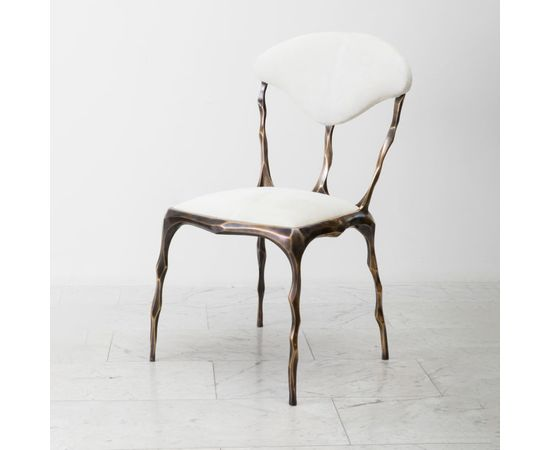 Стул Markus Haase Faceted Bronze Patina Dining Chair, фото 1